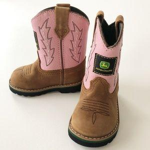 John Deere Johnny Popper Pink Western Cowboy Boots